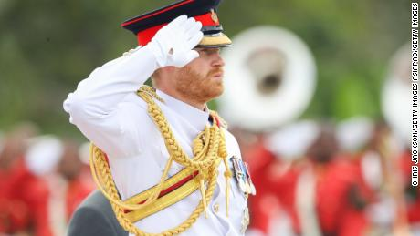 Prince Harry visits a war wreath in Suva, Fiji