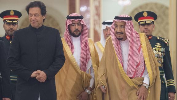 Pakistani Prime Minister Imran Khan meets King of Saudi Arabia Salman bin Abdulaziz Al Saud in Jeddah, Saudi Arabia on September 19, 2018.