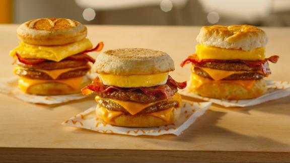 McDonald's new Triple Breakfast Stacks.