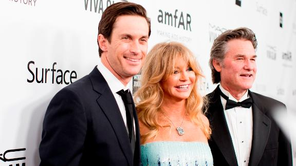 Oliver Hudson, Goldie Hawn and  Kurt Russell in 2013