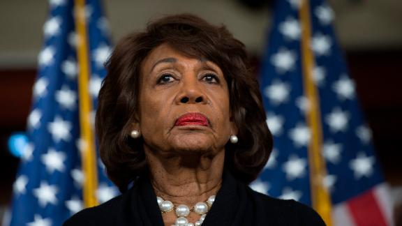 Rep. Maxine Waters, a California Democrat, looks on before speaking to reporters on Capitol Hill in Washington, DC in January. Waters will chair the House Financial Services Committee in January.