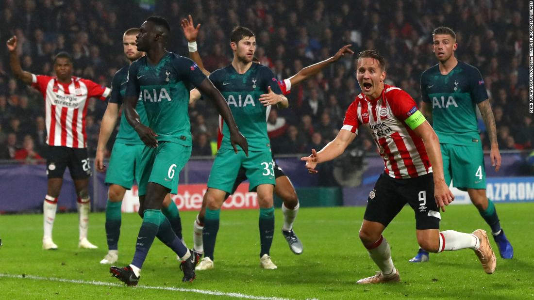 PSV scored a dramatic late goal to draw with Tottenham. Spurs had recovered from a one-goal deficit to lead 2-1 but conceded yet another late equalizer in the Champions League.