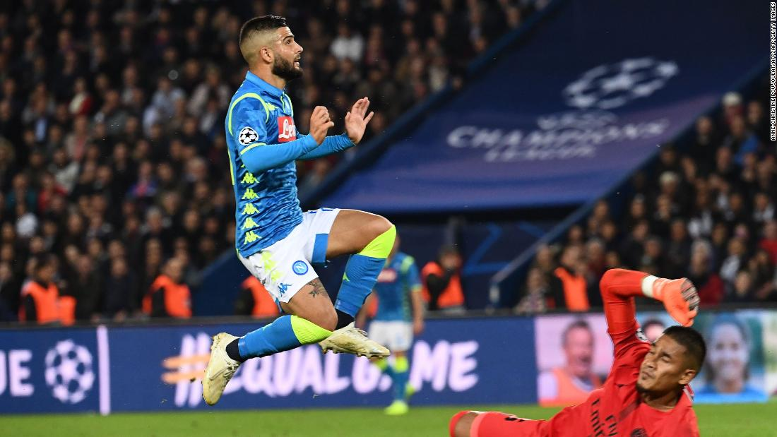 Lorenzo Insigne lobbed the ball home to put Napoli ahead at the Parc des Princes. It was an impressive away display from the Italian side and they were well worth their point.