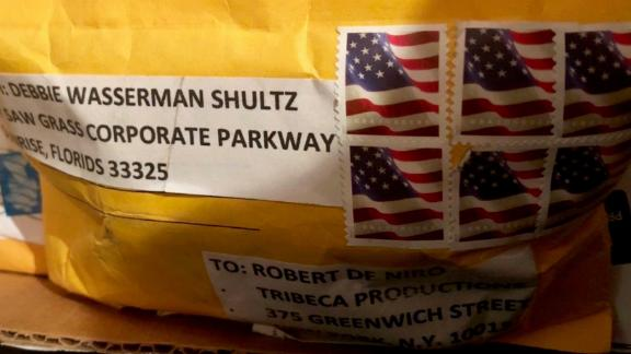 A photo of the package sent to Robert DeNiro, provided by a law enforcement official.