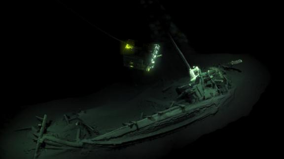 The ship was surveyed and digitally mapped by two remote underwater vehicles