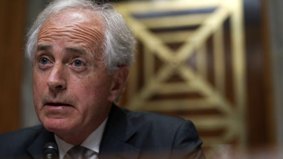 "Committee chairman U.S. Sen. Bob Corker (R-TN) speaks during a hearing before Senate Foreign Relations Committee July 25, 2018 on Capitol Hill in Washington, DC. The committee held a hearing on ""An Update on American Diplomacy to Advance Our National Security Strategy."""