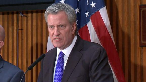 New York Mayor Bill de Blasio noted reports of rapes that happened years ago have increased.
