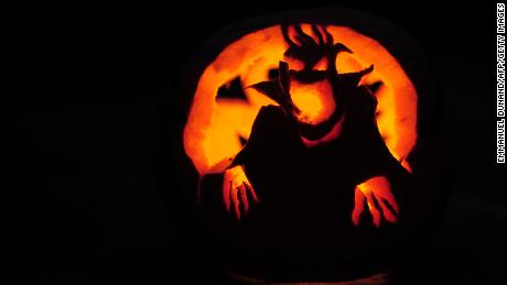 Really scary jack-o'-lanterns are OK.