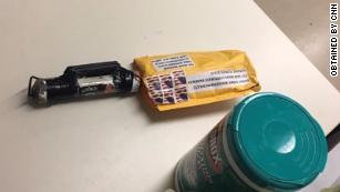 This is one of the suspicious packages sent to the CNN building in New York.