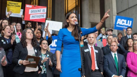 New York Democratic representative Alexandria Ocasio-Cortez embodies a new attitude among Democrats who believe in a strong, activist federal government.
