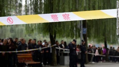 Crowds have gathered outside the kindergarten following the attack, locals told CNN.