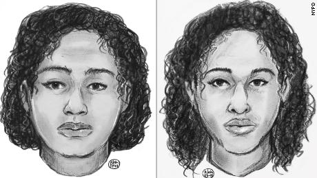 Police sketches of two unidentified females found deceased near the Hudson River on October 24.