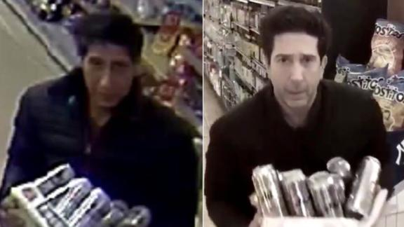 The jailed man (left) and David Schwimmer (right).