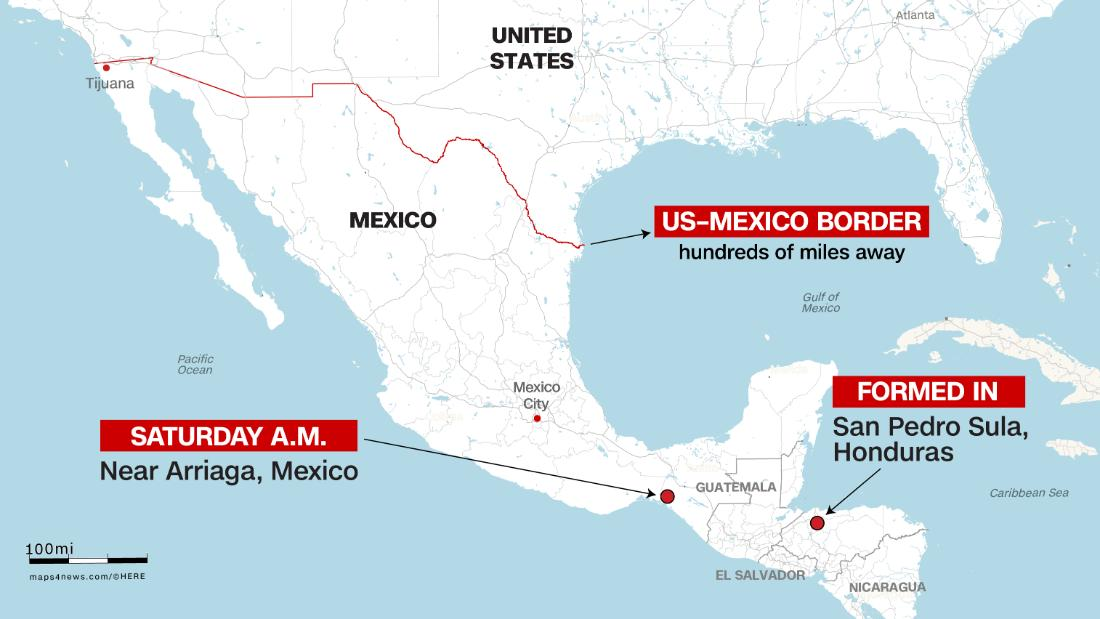 The migrant caravan could be weeks away from the US border