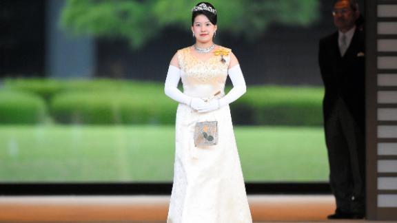 TOKYO, JAPAN - OCTOBER 26: (CHINA OUT, SOUTH KOREA OUT) Princess Ayako of Takamado is seen after the 'Choken-no-Gi', greeting ceremony at the Imperial Palace ahead of the her wedding with Kei Moriya on October 26, 2018 in Tokyo, Japan. (Photo by The Asahi Shimbun/The Asahi Shimbun via Getty Images)
