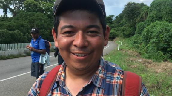 Bryan Colindres joined the migrant caravan hoping to reunite with the wife and daughter he was forced to leave behind in America.