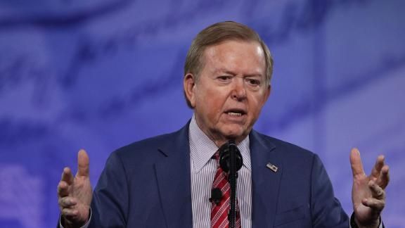 Lou Dobbs of Fox Business Network speaks during the Conservative Political Action Conference at the Gaylord National Resort and Convention Center.