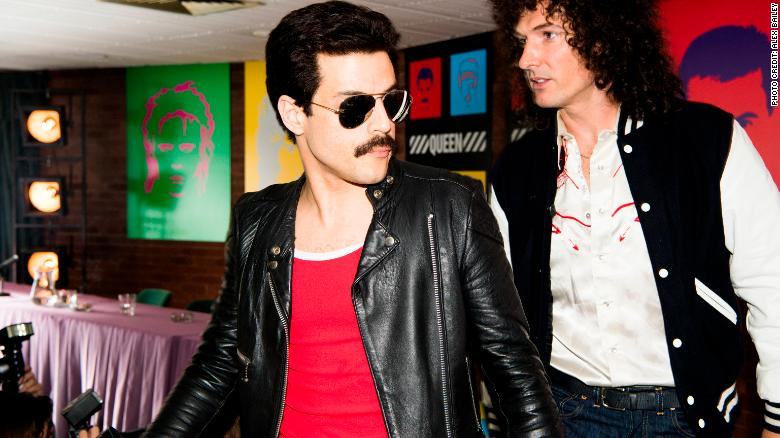 DF-14964_R -- Rami Malek (Freddie Mercury) and Gwilym Lee (Brian May) star in Twentieth Century Fox's BOHEMIAN RHAPSODY. Photo Credit: Alex Bailey.