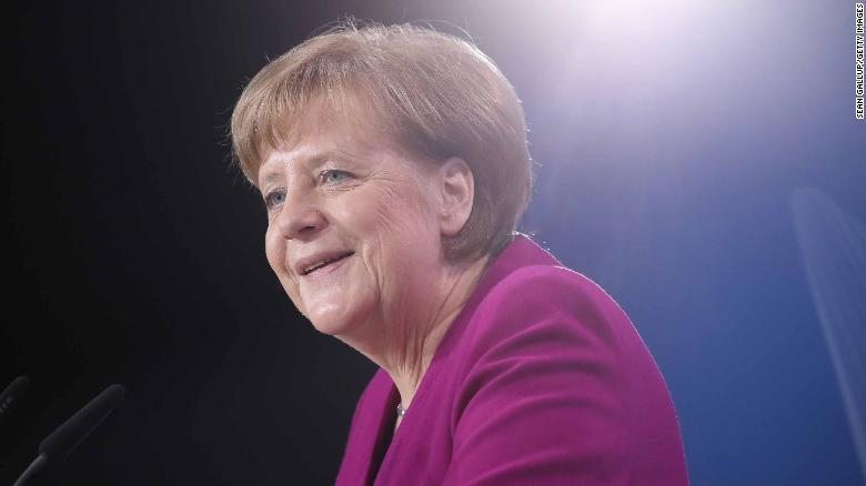 German Chancellor and Chairwoman of Germany's Christian Democratic Union (CDU) Angela Merkel speaks to delegates at the 30th CDU party congress on February 26, in Berlin, Germany. Merkel became the first female Chancellor of Germany in 2005, and is currently serving in her fourth term.