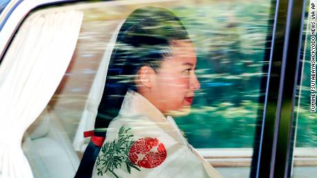 Princess Ayako on her way to her wedding ceremony on October 29, 2018 in Tokyo. 19659015] Princess Ayako on the way to her wedding ceremony in Tokyo, October 29, 2018.
