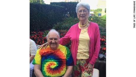 Sylvan, 86, left, and Bernice Simon, 84.
