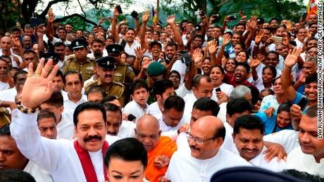 Rajapaksa is considered a military hero among supporters.