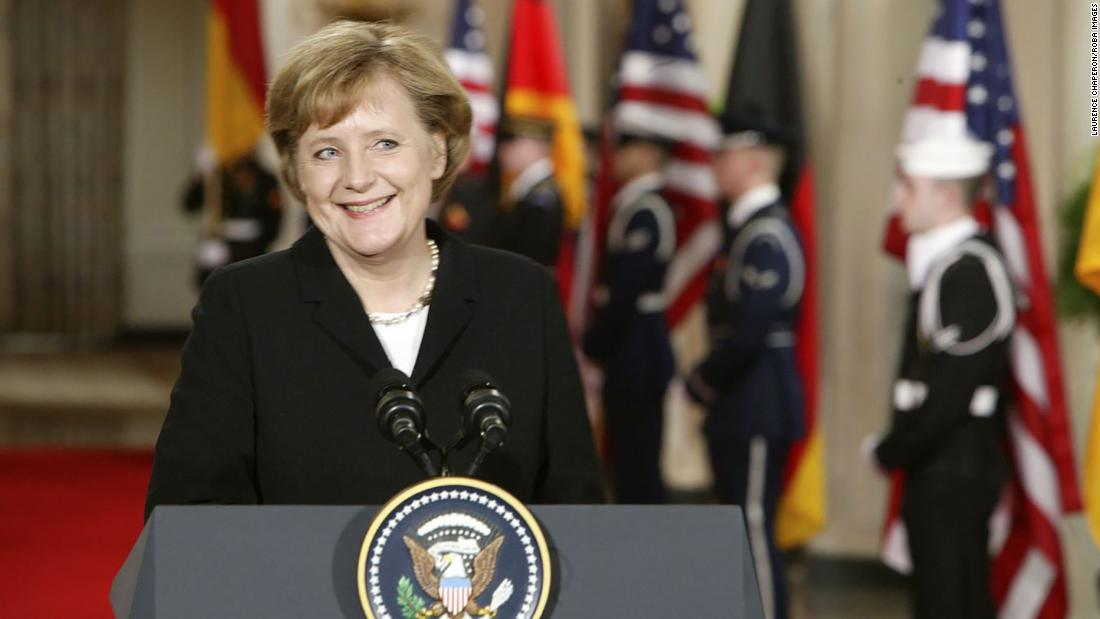 Merkel visits the White House in January 2006. A few days later she also visited the Kremlin in Russia.