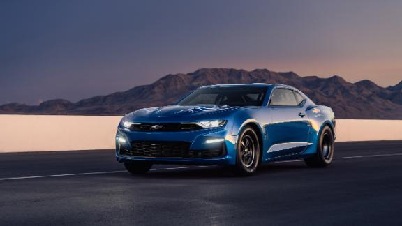 The eCOPO Camaro is capable of running a quarter mile drag strip, starting from a stop, in about 9 seconds, GM says. That's slightly quicker than the 840 horsepower Dodge Challenger Demon.