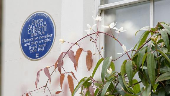 More women should receive a blue plaque, like this one for author Agatha Christie, English Heritage says.
