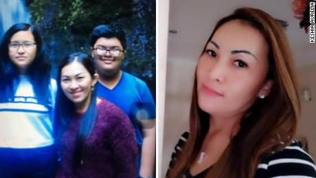 Fifi Hajanto (right), 42, was on board the Lion Air 610 flight when it went down, her daughter Keshia Aurelia (pictured left with her mother and brother) told CNN.