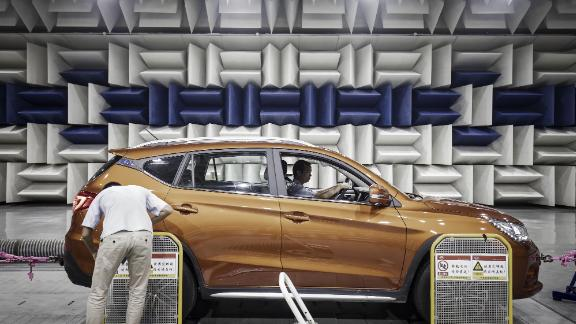 Based in the southern Chinese city of Shenzhen, Warren Buffett-backed BYD makes electric vehicles and the batteries that power them.