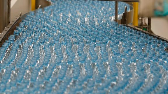 SALT LAKE CITY, UT - FEBRUARY 10: Empty plastic bottles move down a production line to be turned into Dasani bottled water at a Coco-Cola bottling plant on February 10, 2017 in Salt Lake City, Utah. Current Coke president James Quincey will become CEO on May 1. (Photo by George Frey/Getty Images)