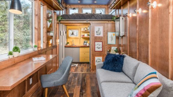 Inside the Cornelia designed and built by New Frontier Tiny Homes.