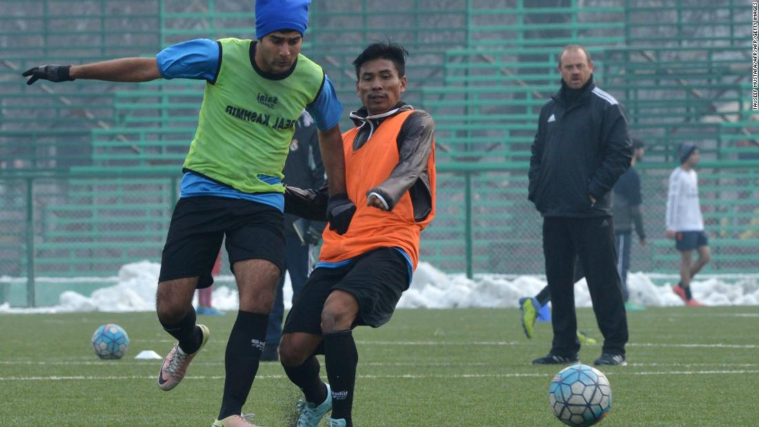 To give the youths an alternative outlet, Chattoo and Meraj bought footballs for the local area. Soon everyone wanted to play and an official team -- Real Kashmir --  was created in 2016.