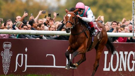 Frankie Dettori rode Enable to a second consecutive Arc victory in Paris last month.