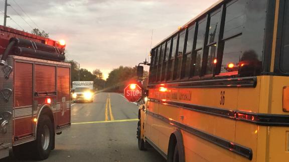 The children were going to catch the bus Tuesday in Rochester, Indiana, when the accident happened.