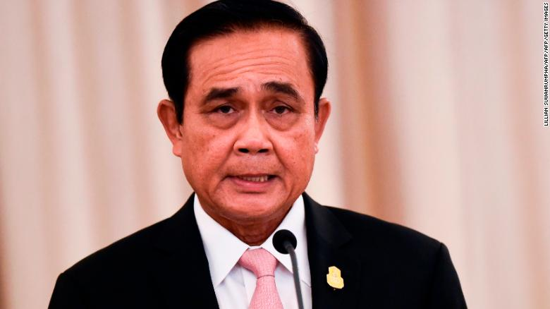 Thai Prime Minister Prayut Chan-O-Cha at the Government House in Bangkok on October 24, 2018.