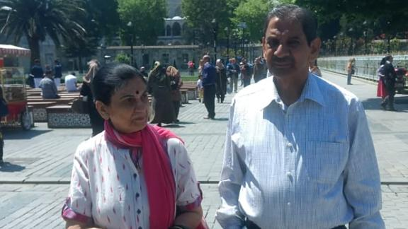 Rekha Singh and her husband Colonel R.D. Singh travelling in Turkey two years ago.