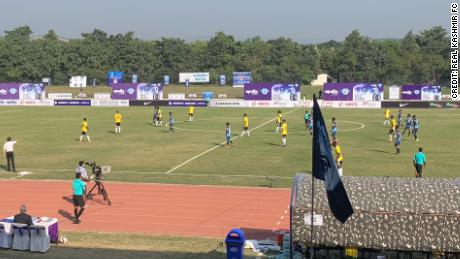 Real Kashmir won its first I-League match 1-0.