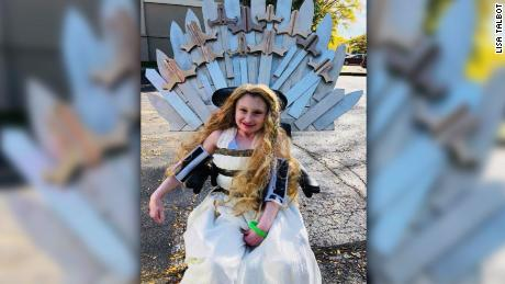 "To represent a strong female fictional character, Julia dressed up as Daenerys Targaryen from ""Game of Thrones."" The wheelchair was made into a throne."