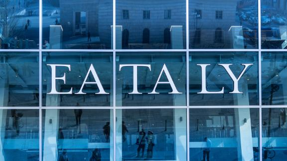 The Eataly food hall and market in New York City.