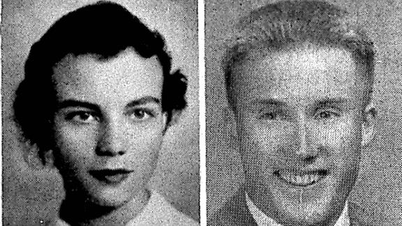 Sandra Day O'Connor, left, in 1950, and William Rehnquist, right, in 1948, both pictured in the Stanford University college yearbook.