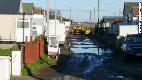 A typical street scene before the investment in Jaywick Sands.