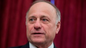UNITED STATES - JANUARY 19: Rep. Steve King, R-Iowa, attends a rally for Iowans in Russell Building prior to the anti-abortion March for Life on the Mall on January 19, 2018.