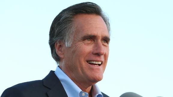 OREM, UT - JUNE 26: Mitt Romney talks to supporters and declares victory on June 26, 2018 in Orem, Utah. Romney was declared the winner over his challenger Mike Kennedy in the Utah U.S. Senate seat of Senator Orin Hatch who is retiring.