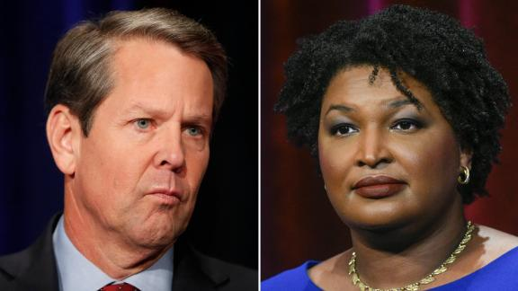 Georgia Democratic gubernatorial candidate and former state representative Stacey Abrams stands ready to face off with Stacey Evans in a debate Tuesday, May 15, 2018, in Atlanta.