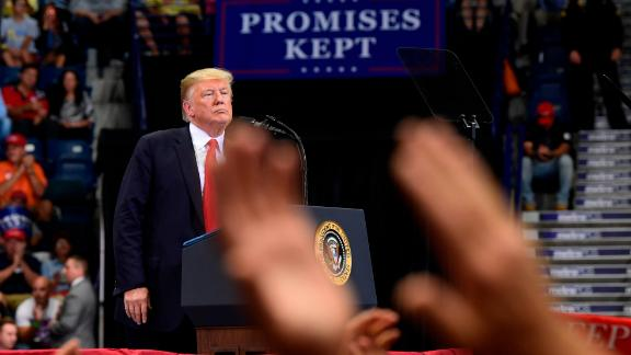 President Donald Trump speaks during a rally in Estero, Florida, Wednesday, October 31, 2018.