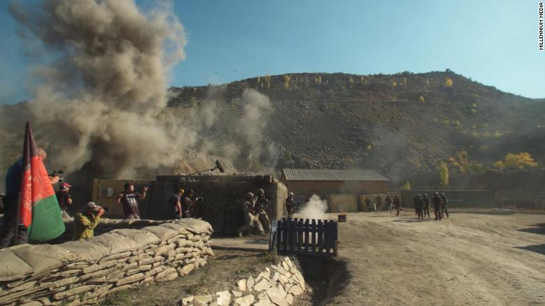 """The set of """"The Outpost"""" near the Bulgarian capital."""