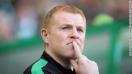 Hibernian manager Neil Lennon was struck by a coin during Hearts game.