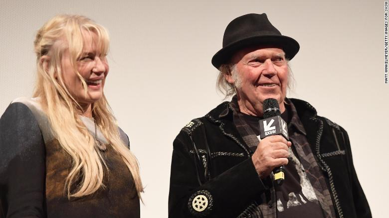 Daryl Hannah and Neil Young attend the